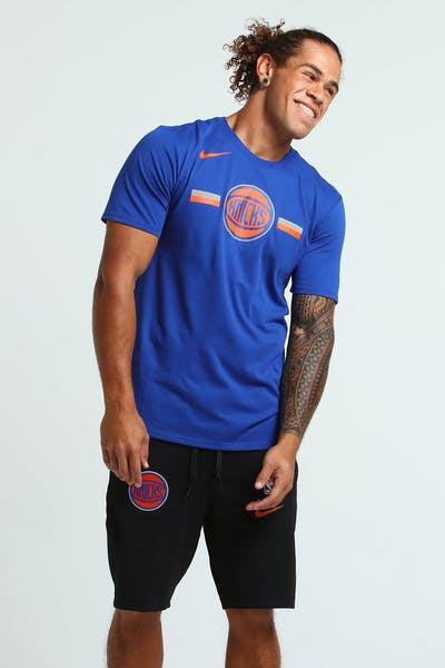 Nike New York Knicks Dry Logo Tee Blue