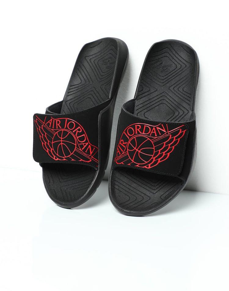 65e9fbb94ca9 Jordan Hydro 7 Slide Black Red