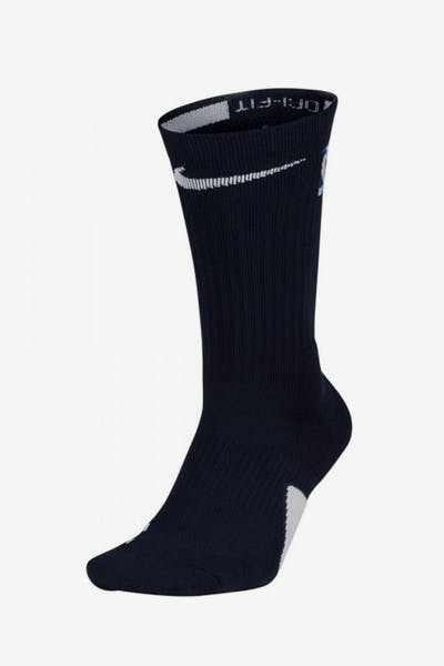 aff9d42d6d6 Nike Elite Crew Sock Navy White + Quick View