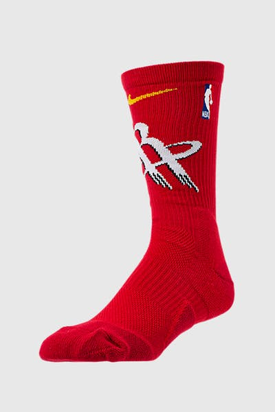 Nike Houston Rockets Elite Crew NBA Sock Red