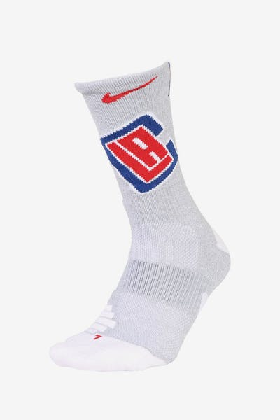 Nike Los Angeles Clippers Elite Crew NBA Sock White