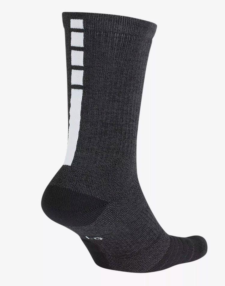 e1edf4ec Nike San Antonio Spurs Elite Crew Sock Black/Silver/White