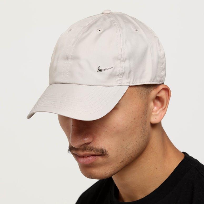 Nike Metal Swoosh H86 Adjustable Hat Beige Silver – Culture Kings 91ade53752