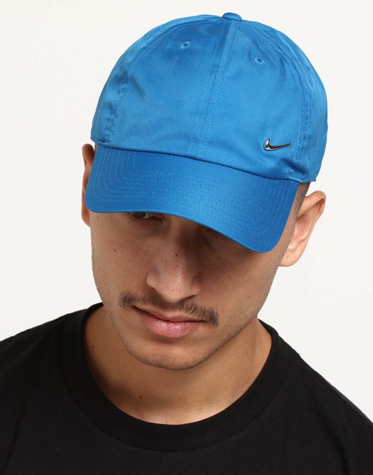 57a50e8831387 Nike Metal Swoosh H86 Adjustable Hat Blue Silver – Culture Kings