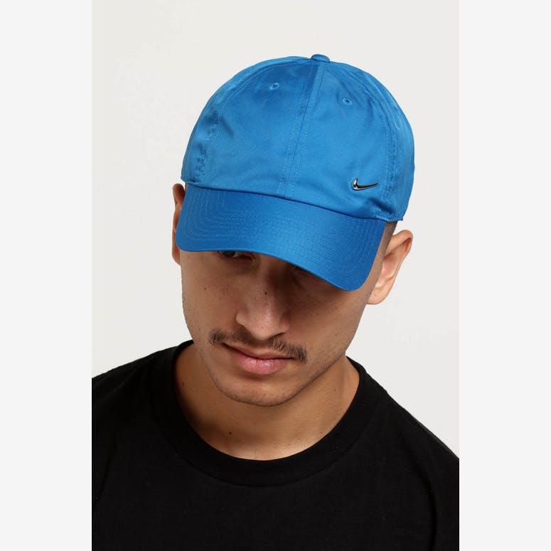 Nike Metal Swoosh H86 Adjustable Hat Blue Silver – Culture Kings 9fdf508bf4
