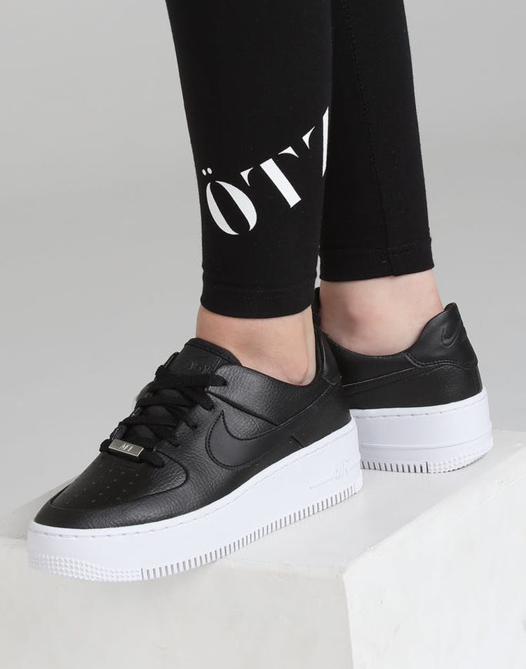 57c01ee1050 Nike Air Force 1 Sage Low Black/Black/White