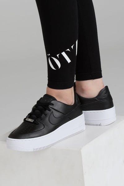 new styles beb3f 10455 Nike Air Force 1 Sage Low Black Black White