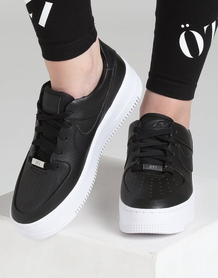 new styles 11fb7 d4eab Nike Air Force 1 Sage Low Black Black White