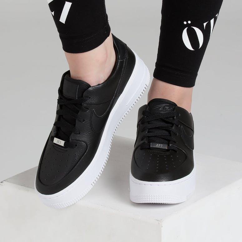 Nike Air Force 1 Sage Low Black Black White – Culture Kings b50860380