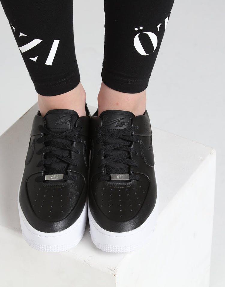 new styles 4ec3d 0e96d Nike Air Force 1 Sage Low Black Black White