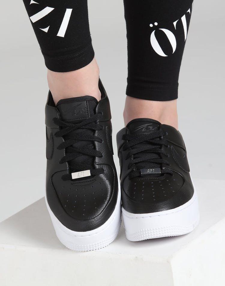new styles 227eb fa598 Nike Air Force 1 Sage Low Black Black White