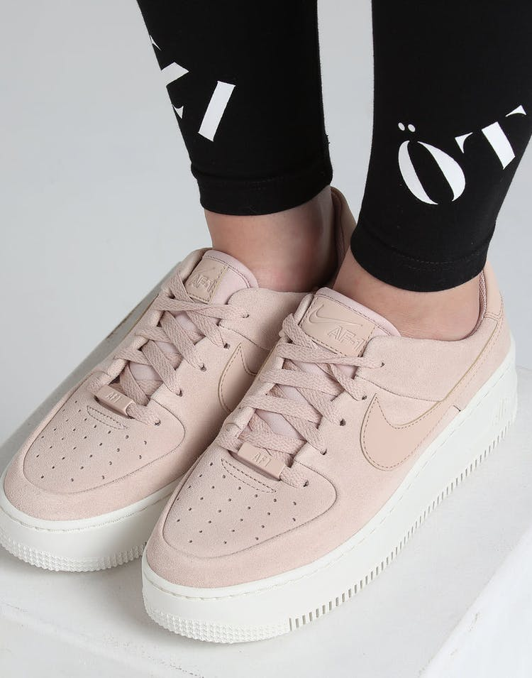 size 40 8ae0a 921ec Nike Women s Air Force 1 Sage Low Beige White