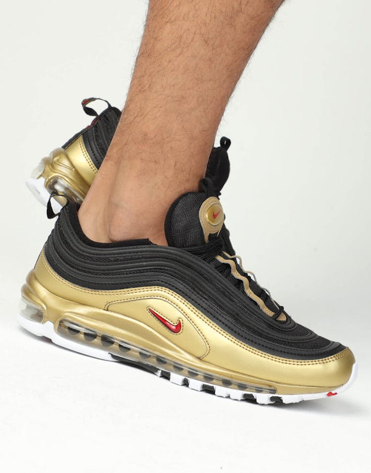 competitive price 49e0c 2e987 Nike Air Max 97 QS Black Red Gold – Culture Kings