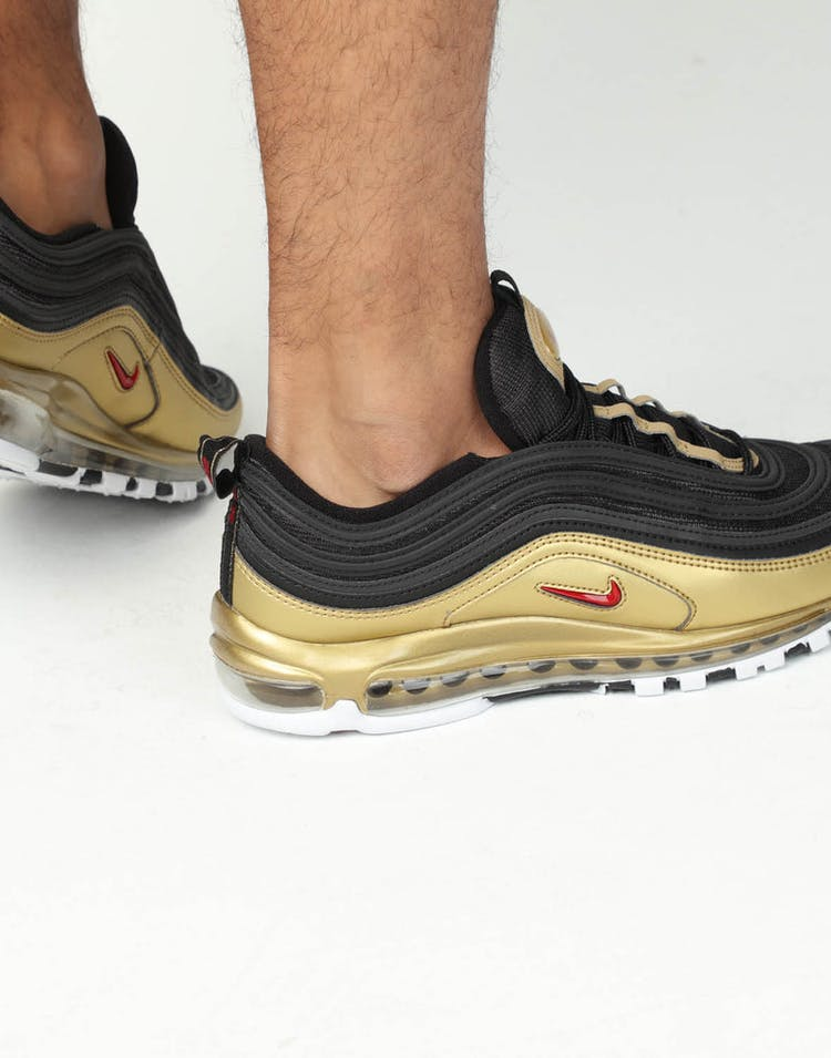 hot sale online d429f 7853a Nike Air Max 97 QS Black Red Gold