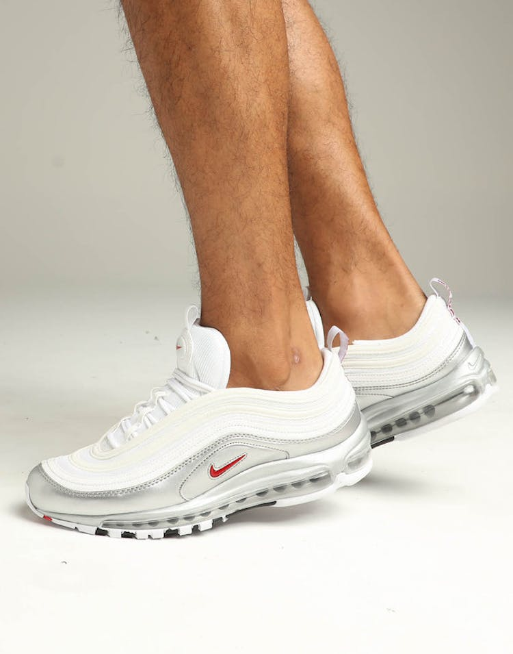 wholesale dealer 961ba 03ded Nike Air Max 97 QS White Red Silver – Culture Kings