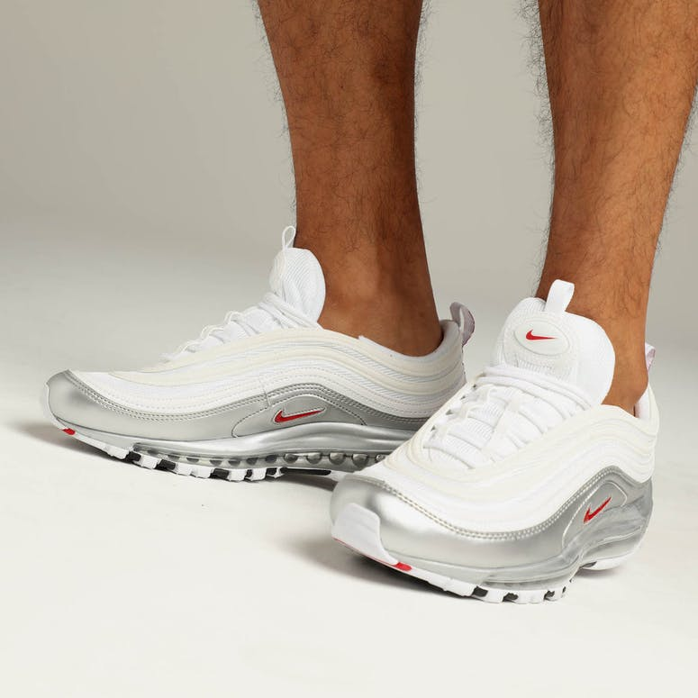 Nike Air Max 97 QS White Red Silver – Culture Kings 6d8491132