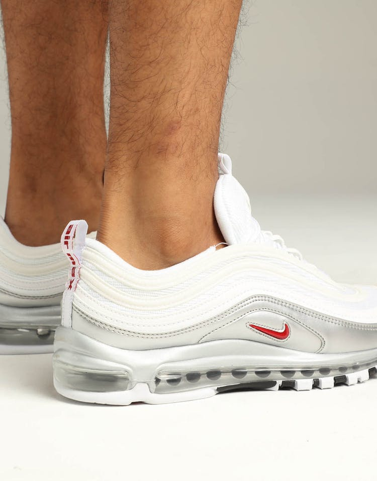sneakers for cheap a9b81 23099 Nike Air Max 97 QS White Red Silver