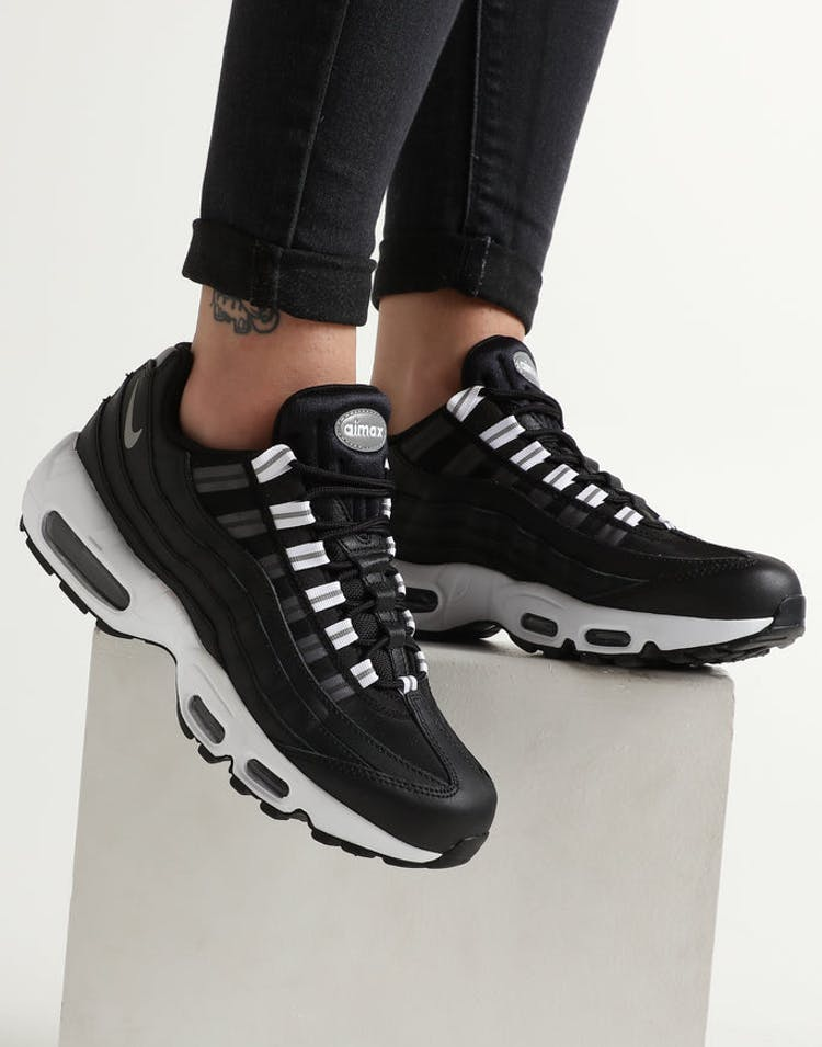 af808a394636 Nike Women s Air Max 95 Black Silver – Culture Kings