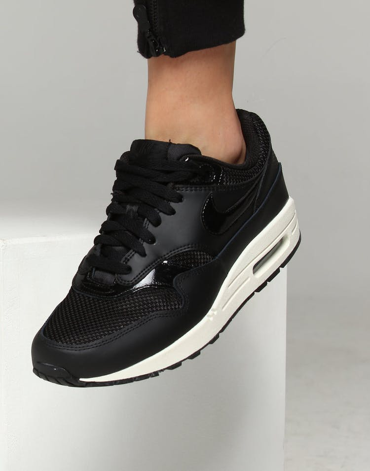 Nike Women's Air Max 1 Black/Black/White