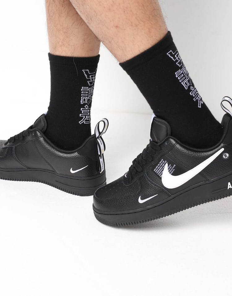 official latest fashion half price Nike Air Force 1 '07 LV8 Utility Black/White