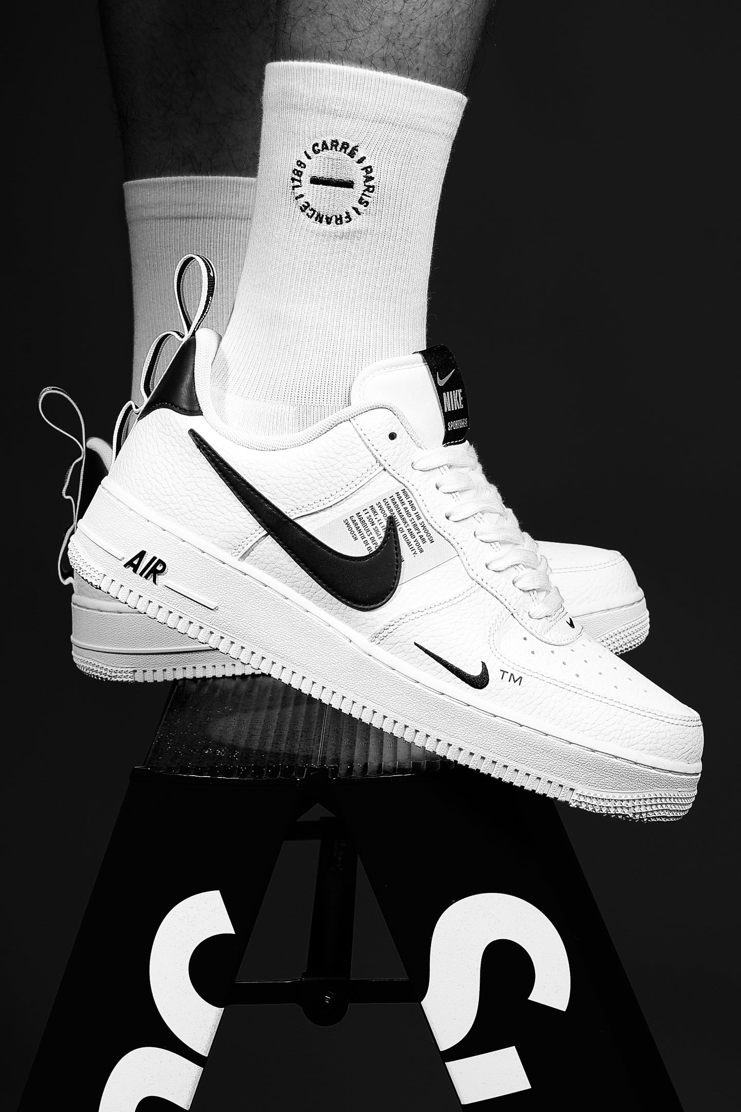 Nike Air Force 1 '07 LV8 Utility White U.K 8.5 U.S Depop