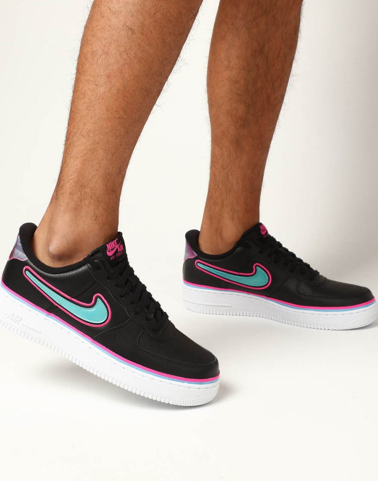 size 40 8aad8 c3dea Nike Air Force 1  07 LV8 Sport Black Blue