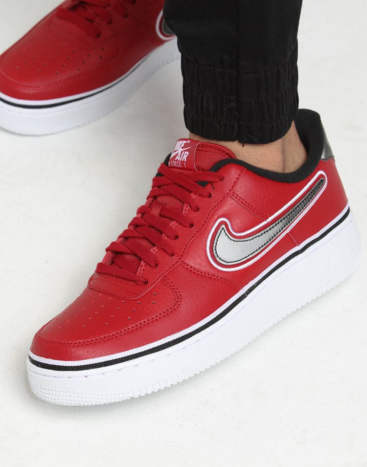 buy popular 52b1c d2c1a Nike Air Force 1  07 LV8 Sport Red Black White – Culture Kings