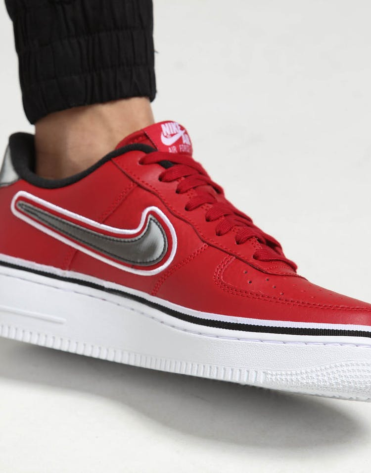 new concept c8762 ecbb9 Nike Air Force 1  07 LV8 Sport Red Black White