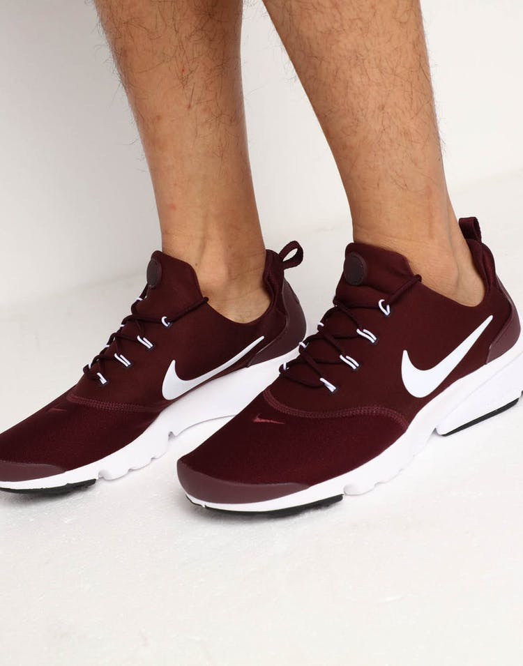 the best available online shop Nike Presto Fly Burgundy/White