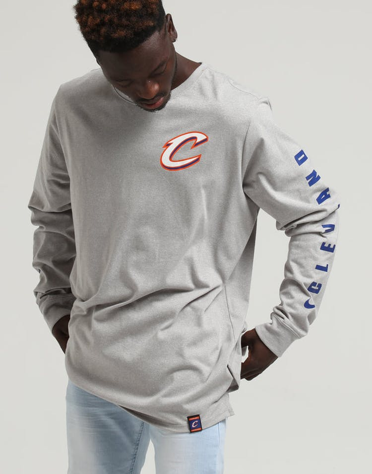 watch 59204 a16cc Nike Cleveland Cavaliers City Edition Long Sleeve Dri-fit Tee White