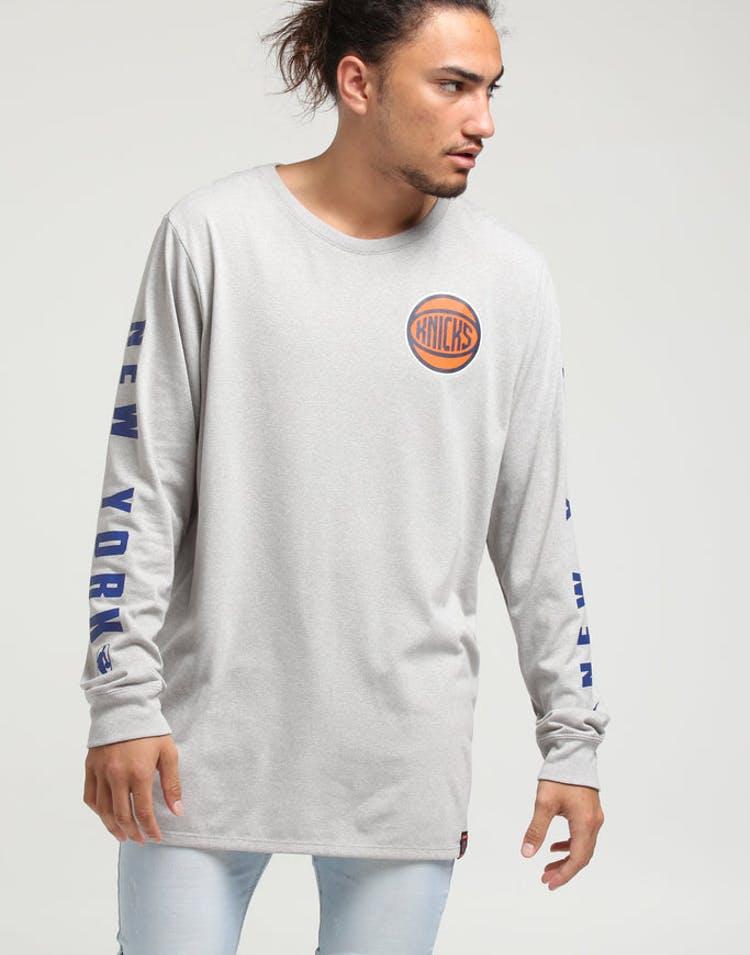 new concept da8e5 c2187 Nike New York Knicks City Edition Long Sleeve Dri-Fit Tee White