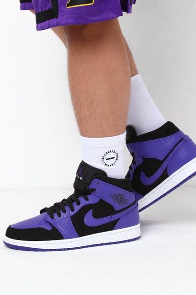 timeless design 3597d 30763 Jordan Air Jordan 1 Mid Black Purple