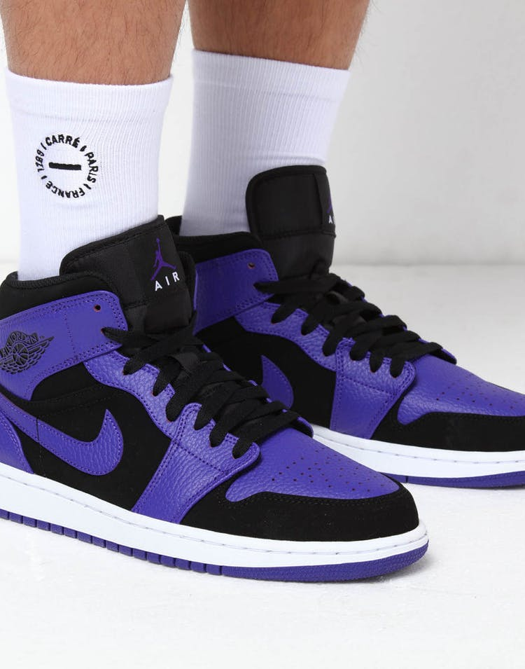 a1219c1a15b Jordan Air Jordan 1 Mid Black/Purple – Culture Kings