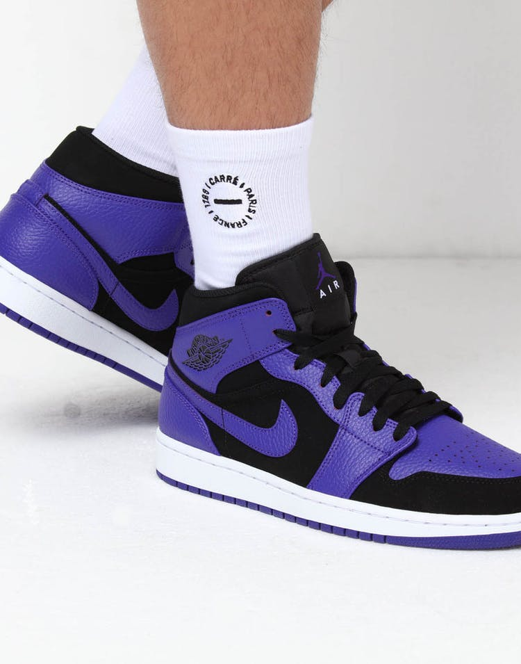80008bfb4d7 Jordan Air Jordan 1 Mid Black/Purple – Culture Kings