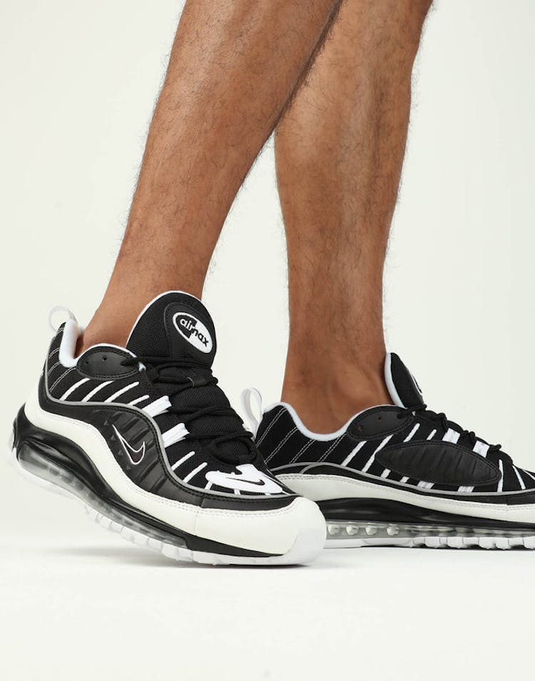 online store a3311 22c0f Nike Air Max 98 Black/White/Silver