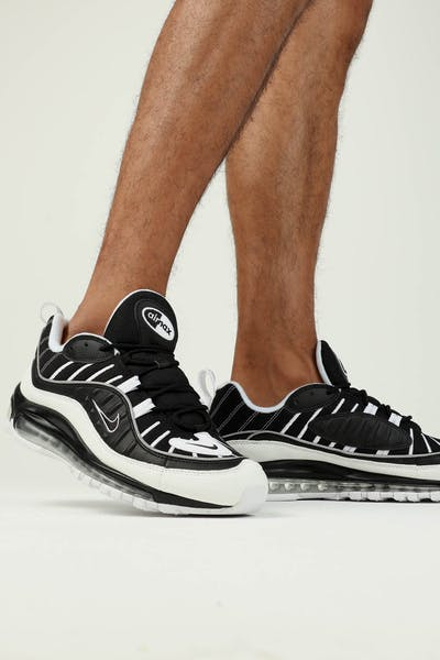 Nike Air Max 98 Black White Silver b387a4834