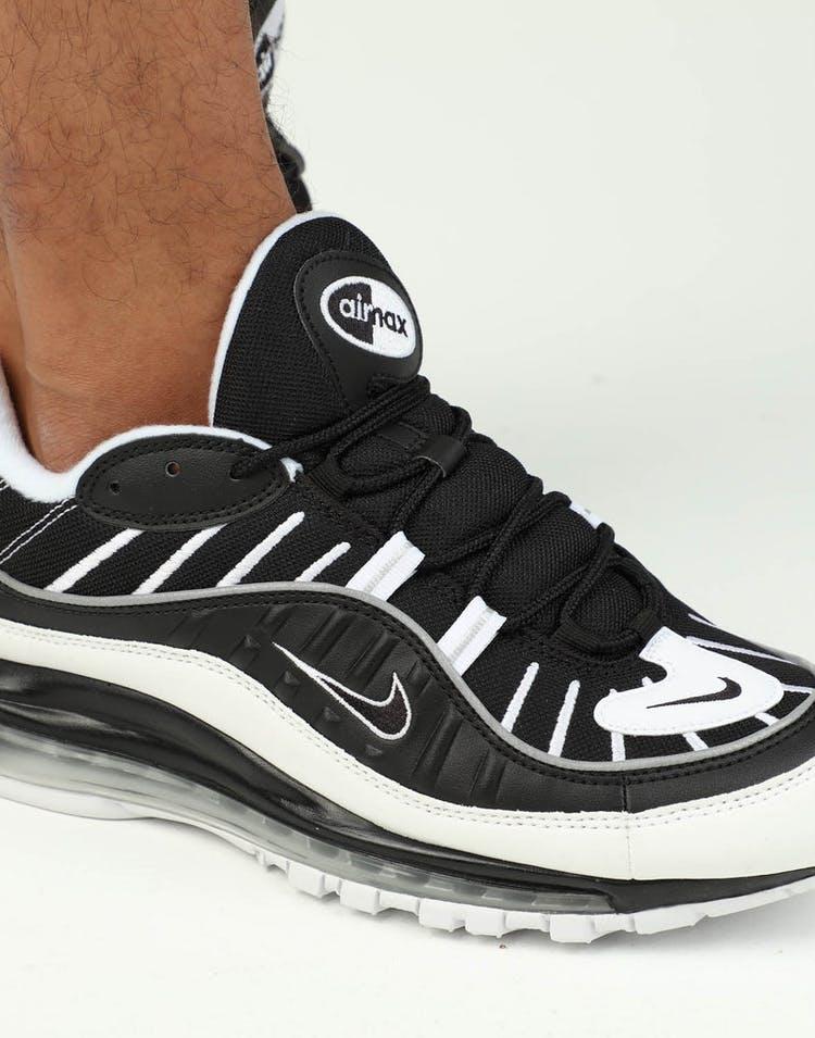 online store cca63 b4104 Nike Air Max 98 Black/White/Silver
