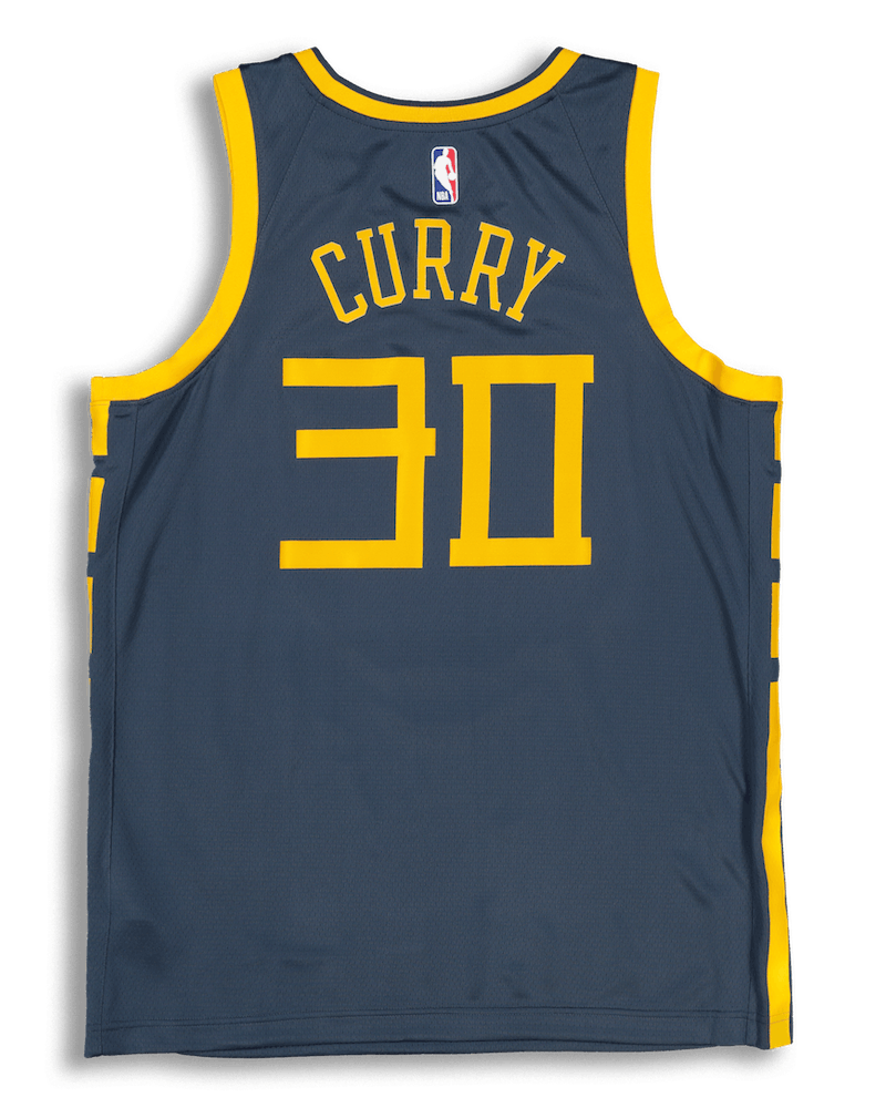 Nike Golden State Warriors Stephen Curry #30 City Edition Swingman NBA Jersey Blue