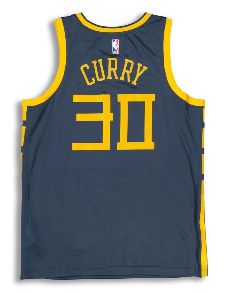 official photos c13a5 1232f Nike Golden State Warriors Stephen Curry #30 City Edition Swingman NBA  Jersey Blue