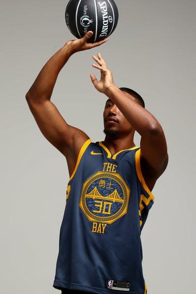 0c19e3128 Nike Golden State Warriors Stephen Curry  30 City Edition Swingman NBA  Jersey Blue