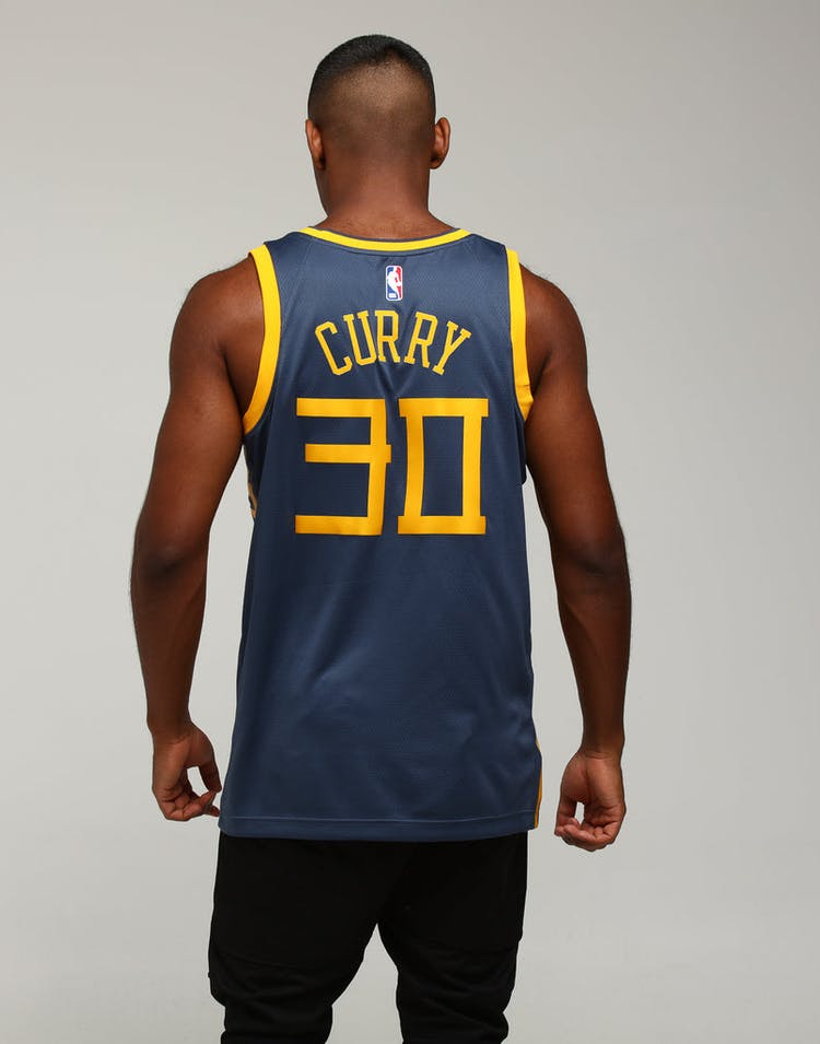 official photos 5883d 4bc49 Nike Golden State Warriors Stephen Curry #30 City Edition Swingman NBA  Jersey Blue