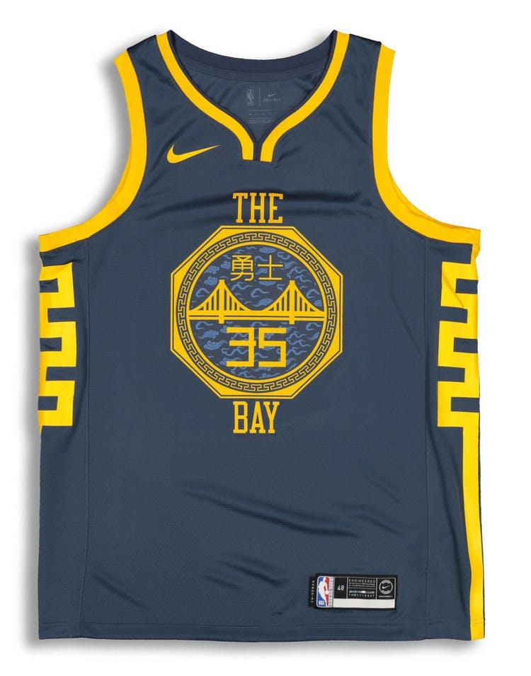5863bff475b Nike Golden State Warriors Kevin Durant  35 City Edition Swingman NBA Jersey  Blue