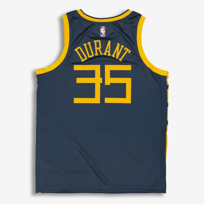 Nike Golden State Warriors Kevin Durant  35 City Edition Swingman NBA Jersey  Blue 692301bef