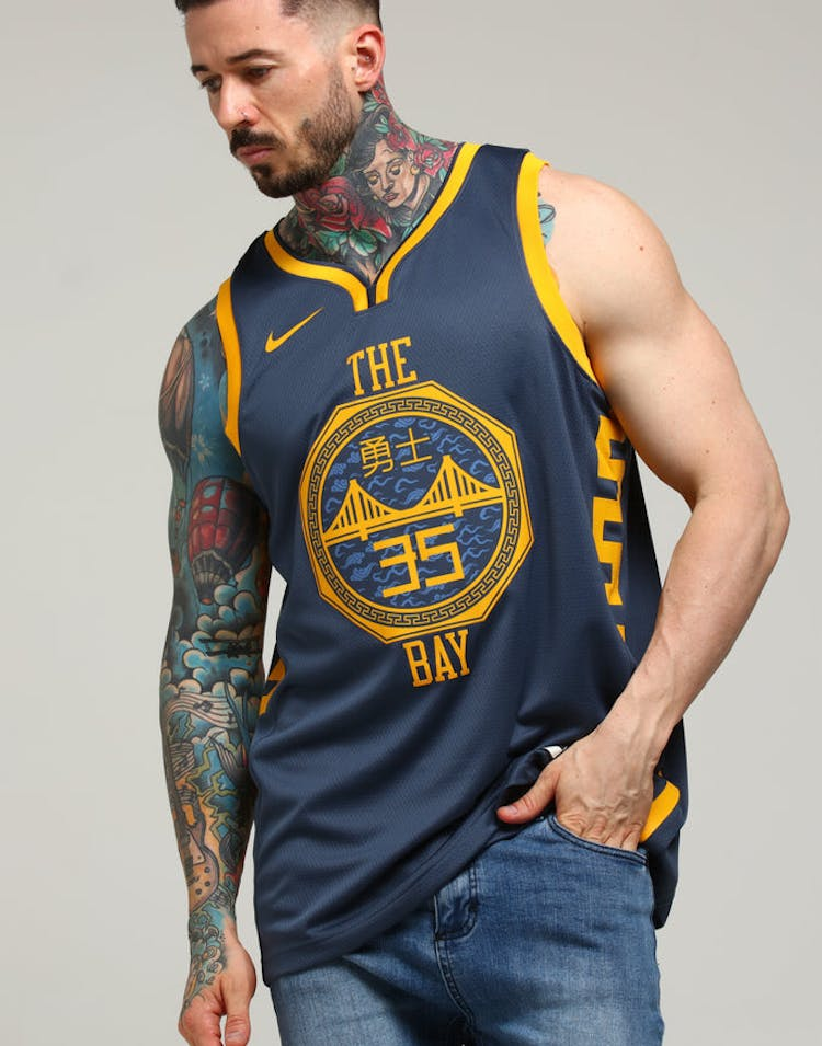 ea34c67ff Nike Golden State Warriors Kevin Durant  35 City Edition Swingman NBA –  Culture Kings