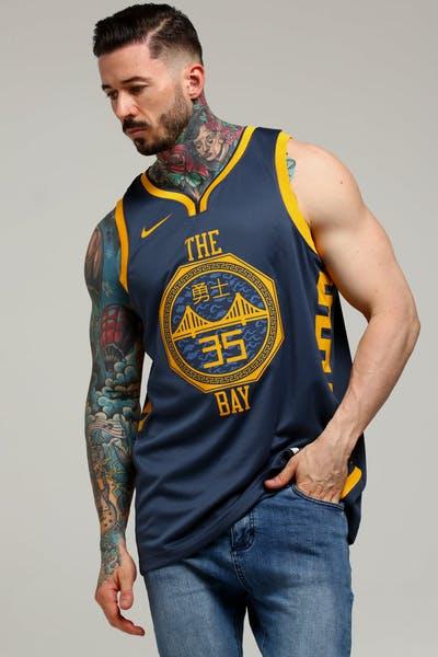 327159922 Nike Golden State Warriors Kevin Durant  35 City Edition Swingman NBA Jersey  Blue
