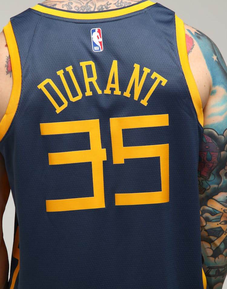 864e799a1 Nike Golden State Warriors Kevin Durant  35 City Edition Swingman NBA Jersey  Blue