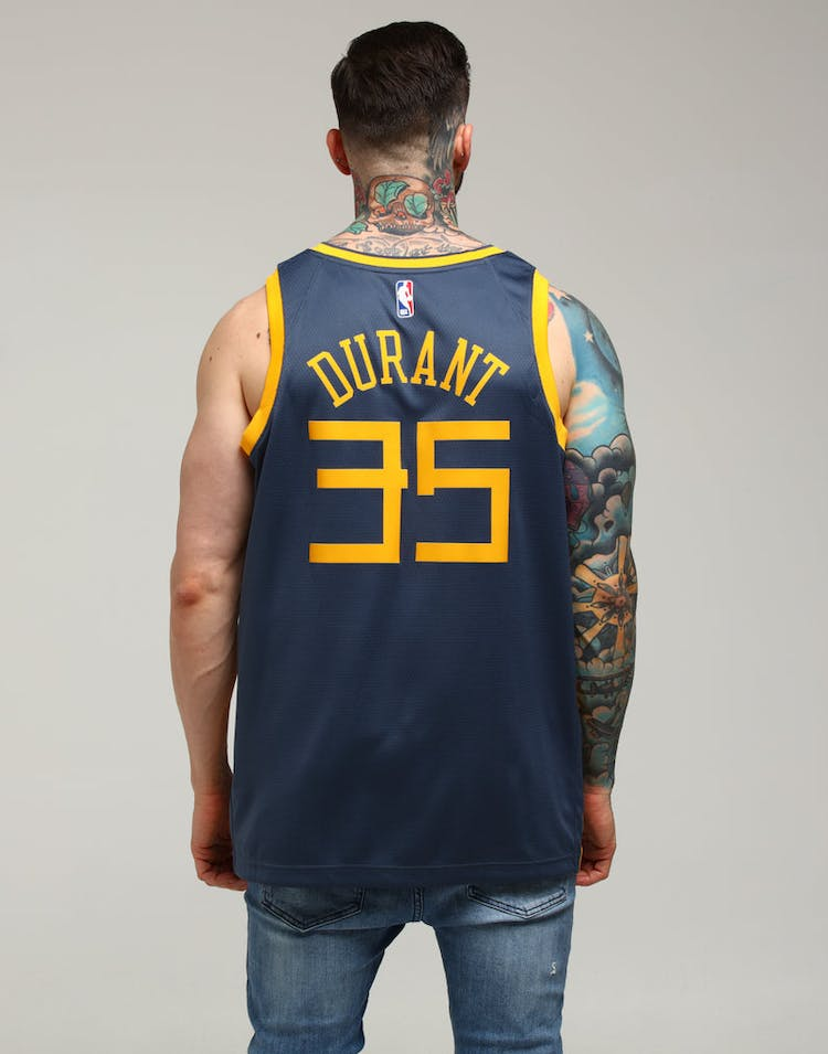 f224390b2a0a Nike Golden State Warriors Kevin Durant  35 City Edition Swingman NBA Jersey  Blue