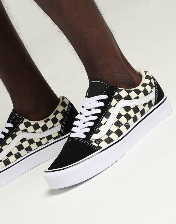 2a2d2fccb6 Vans Old Skool Lite (Checkerboard) Black White – Culture Kings