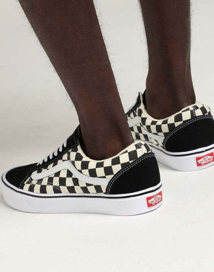 560ab12e1d17 Vans Old Skool Lite (Checkerboard) Black White – Culture Kings