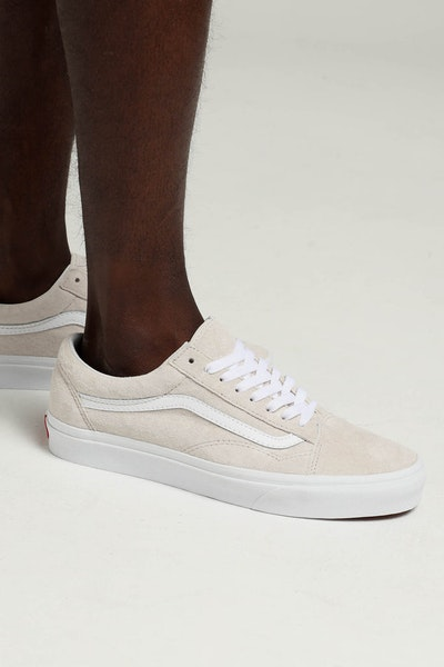 Vans Old Skool (Pig Suede) Light Grey/White